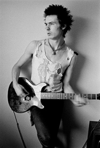 Sid Vicious in 1977. Photo: Dennis Morris.