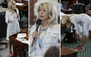 Texas State Senator Wendy Davis looking chic while filibusting.