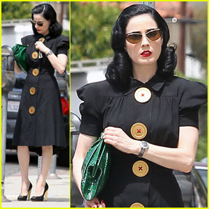 Dita Von Teese, on the Vanity Fair International Best Dressed List.