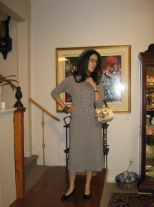 A JB styled look from the 2011 vintage fashion show at Collector's Choice Antiques.