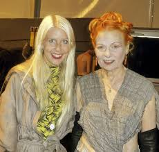 Sofia Hedstrom with Vivienne Westwood, who wrote the forward to Fashion Manifesto.