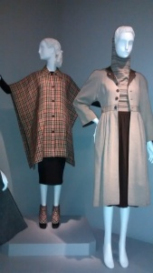 Left: The Tweed Toga by Bonnie Cashin, 1943. Right: Ensemble by Claire McCardell, 1946 (first hoodie?).