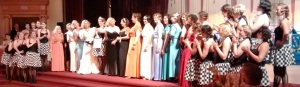 Theresa LaQuey designed every one of these gowns as well as the costumes for the DecoBelles.