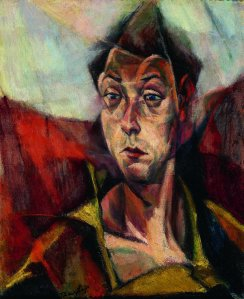 Self Portrait by Hungarian artist Lojos Tihanyi (1885-1938).