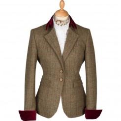 green-tba-velevt-cuff-ladies-jacket