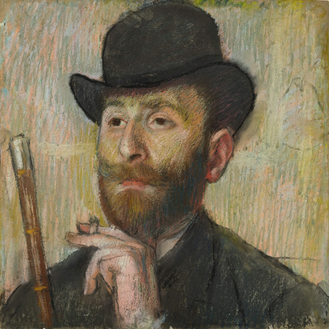Degas_Portrait of Zacharian_Private Collection